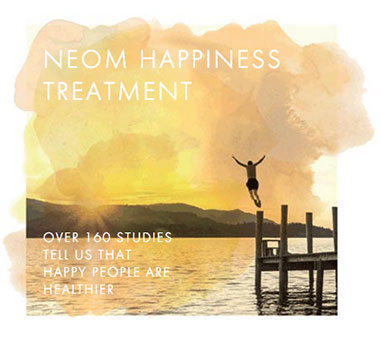 Neom Happiness Treatment Graphic
