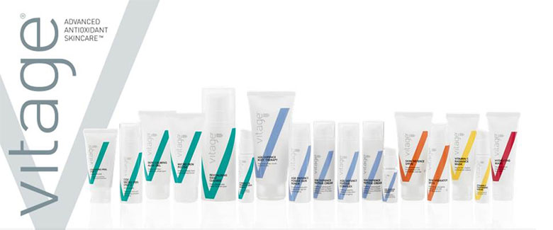Image of Vitage skincare products