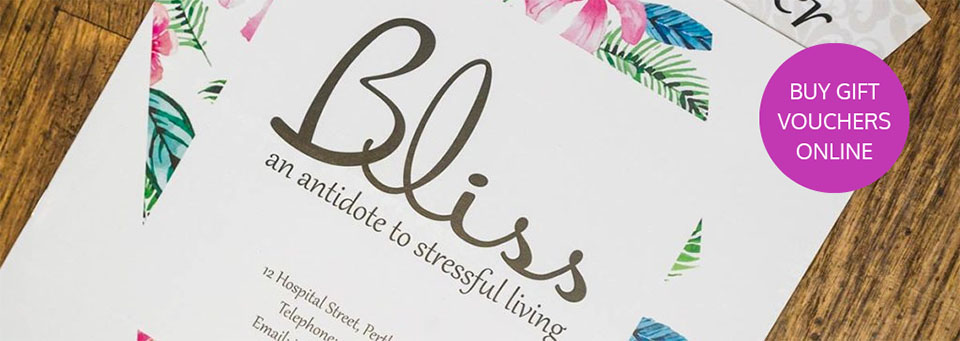 Gift Vouchers at Bliss Salon, Perth